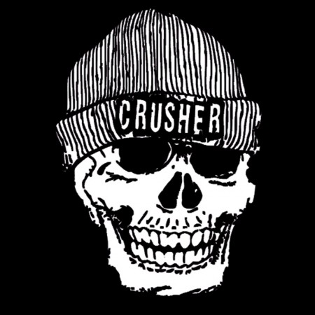 Crusher Skull Design T Shirt