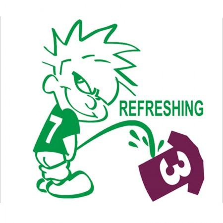 Calvin Hibs Pissing Tee Shirt