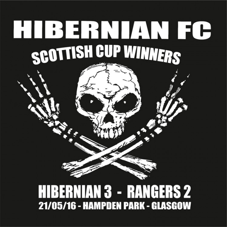 Hibernian Scottish Cup Winners 3 -2 Skeleton